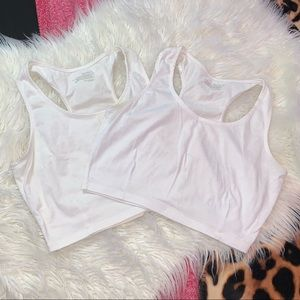 2 Large Red Fox crop tops.